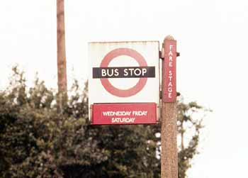 part-time compulsory bus stop flag.