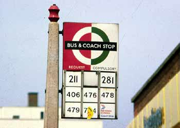 bus compulsory coach request stop flag 3.
