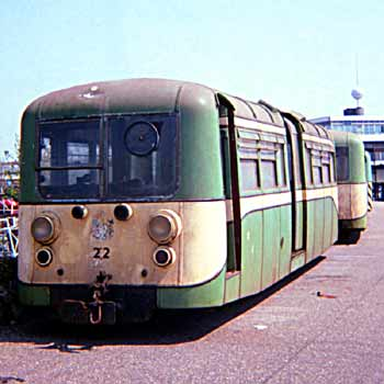 Former Southend Pier railway driving motor carriage No.22 seen on the promenade.