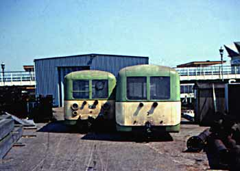 Former Southend Pier railway carriages 4 and 2.