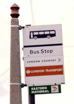 National Bus Company NBC London Transport Country Stop Flag.