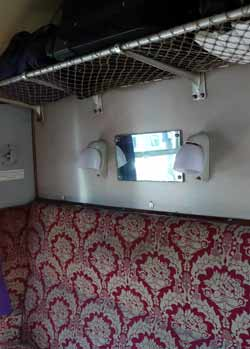 Passenger Compartment On A British Mk1 Train.