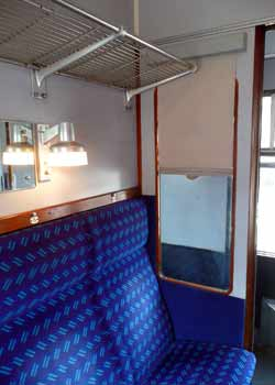Metropolitan Heritage Train compartment.