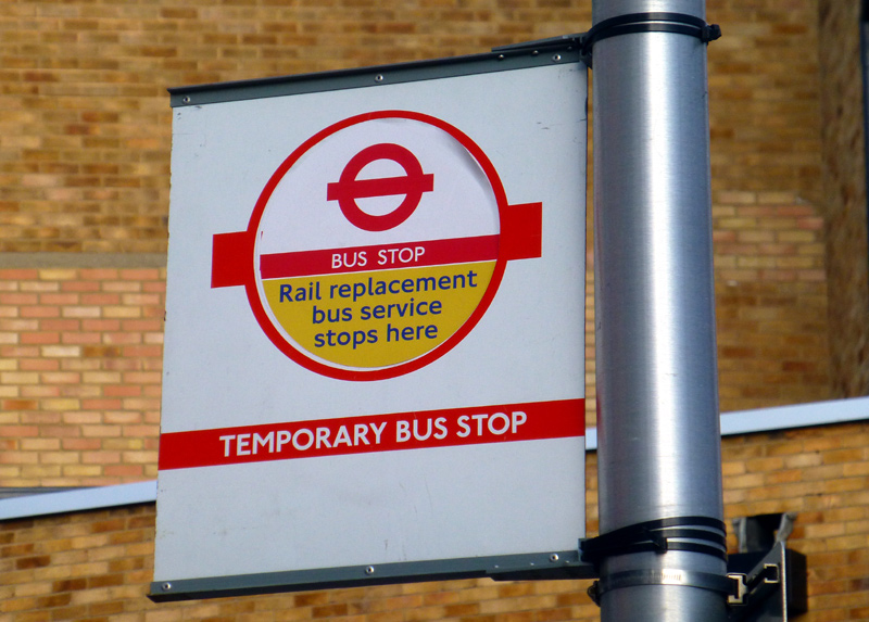 temporary Bus Stop Flag.