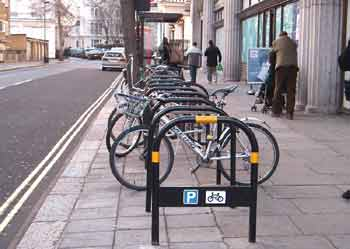 Pedal cycle parking.