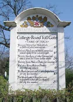 College Road, Dulwich tollgate charges.