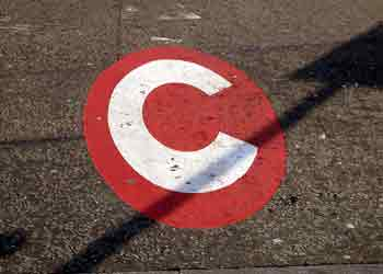 Road marking at entry to the congestion charge zone (CCZ).