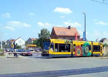 Nordhausen Combino Duo tram-train.