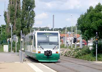 Zwickau train-tram.