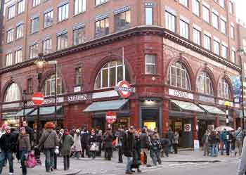 street view of Covent Garden station.
