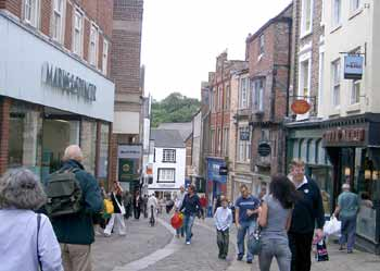 Historic Durham City centre.