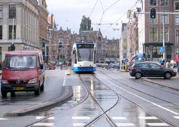 Light rail / other traffic segregation in Amsterdam.