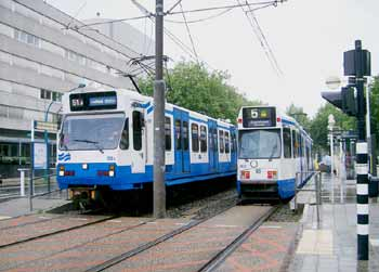 Amstelveen light rail tram routes 51 and 5.