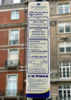 Detailed information on how to pay for parking.