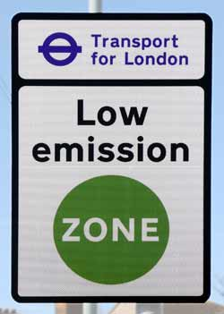 LEZ (Low Emissions Zone) signage..