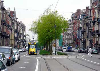 Light rail / other traffic segregation in Brussels.