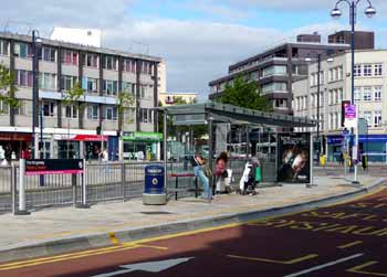 The f-t-r concept includes high quality street furniture at bus stops.