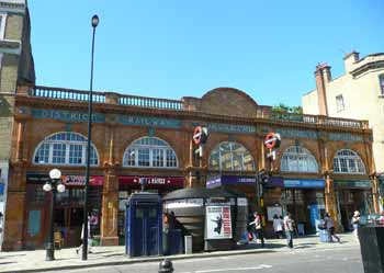 Historic Earls Court Road station entrance.