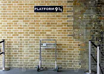 Harry Potter platform at Kings Cross.