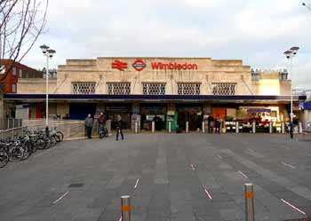 Wimbledon station frontage.