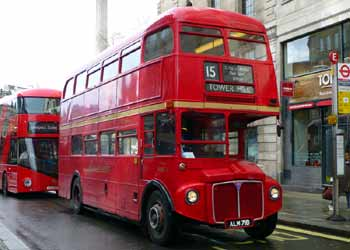 Historic Routemaster bus.