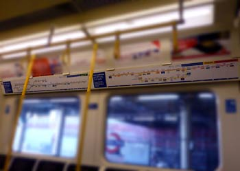 Route maps inside S7 S Stock train.
