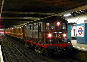 London Underground Heritage Train.