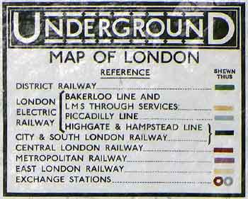 Historic UndergrounD Map Temple Station.