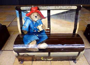 Paddington Bear at Paddington station.