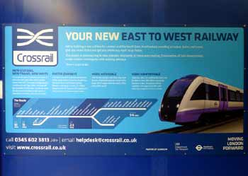 London Crossrail poster.