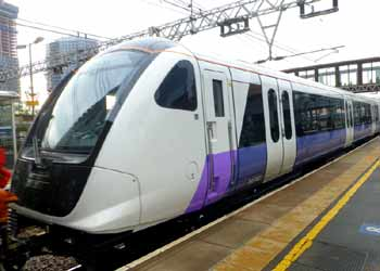 front Class 345 train Crossrail Eliabeth Line.