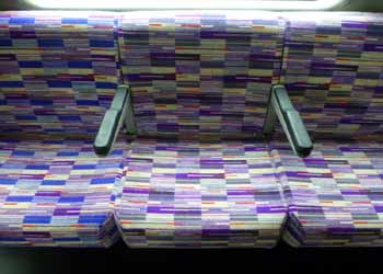 seat fabric colour palette Class 345 train Crossrail Elizabeth Line.
