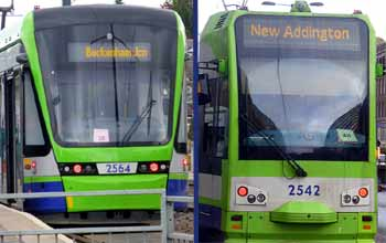 Clearly visible Tramlink destinations without route numbers.