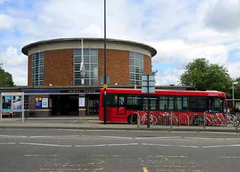 Arnos Grove station and bus interchange.