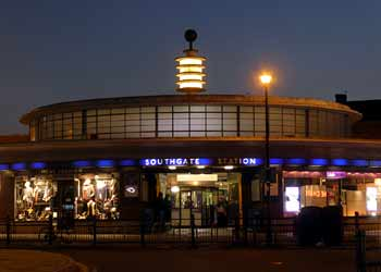 Southgate station with Tesla Coil twilight.
