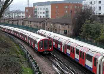 Central line trains travel on the right!