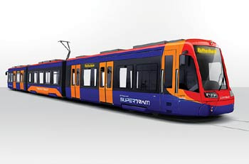Planned Sheffield tram-train.