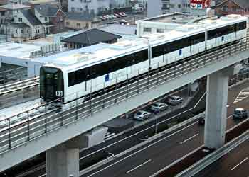 Linimo Maglev Monorail train.