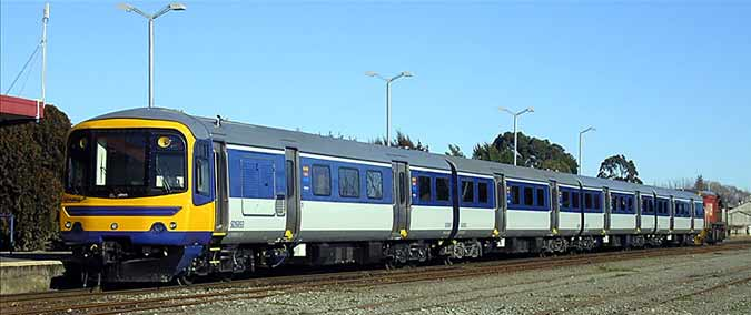 Push-pull type train in Auckland comprising of converted former British Railways carriages.