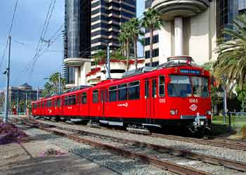 San Diego light heavy rail track sharing.