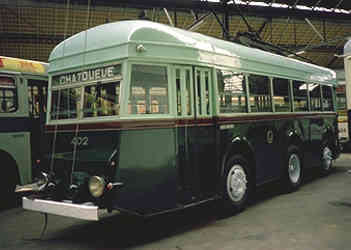 A Belgian reversible (double-ended) trolleybus.