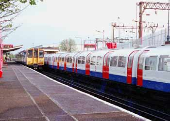 Track sharing London Underground + Overground.