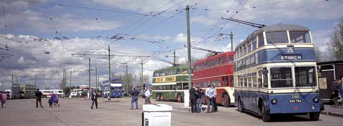 General view of the Trolleybus Museum at Sandtoft.