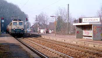 Local main-line train at Ersingen station.