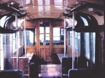 Inside former Southend Pier electric train, click to see more and larger images.