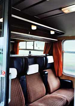 Passenger Compartment On A British Mk2 Train.