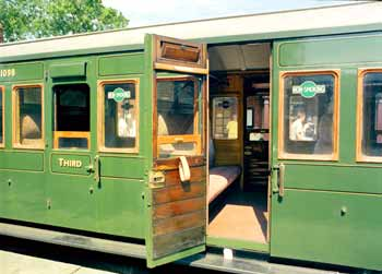 Passenger Compartment On An Historic British Railway Carriage.