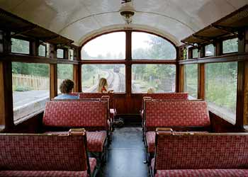 Inside LNWR Observation Coach.
