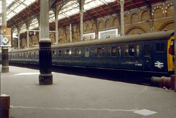Class 307 train at London Liverpool Street Station.
