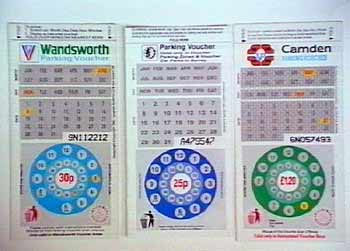 'scratchcard' style parking vouchers.